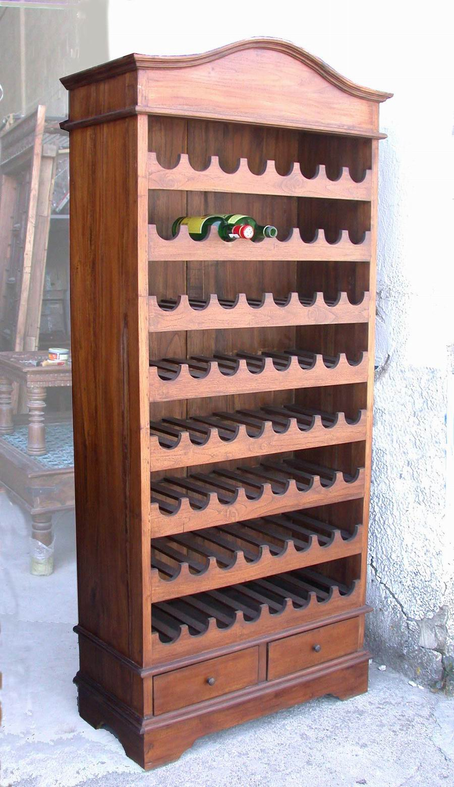 Botelleros muebles botelleros cajas de madera estuches - Mueble botellero cocina ...