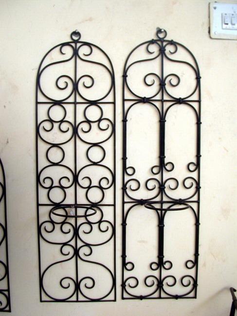 Rejas de hierro de artesanía. : objetos decorativos.