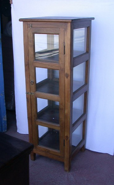 Vitrinas de madera: teka, vitrina pino, con cristales. Catálogo de ...
